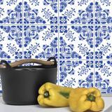 Adesivo de Azulejo 10x10 para Cozinha Azul Alva - Quartinhos