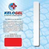 Adesivo em gel de silicone para cicatriz   3x50cm( 1 fita 35cm + 1 fita 35cm )  kelogel