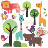 Adesivo Kit Florestinha Colorida - Clickfik