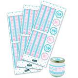 Adesivo para Lembrancinha Chá de Revelação Festcolor - Festabox