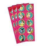 Adesivo para Lembrancinhas Princesas da Disney 3 Cartelas. - Regina