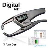 Adipômetro Digital Dg+ Cinza ( 3 Funções ) Physical Test 2.98 - Prime med
