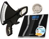 Adipômetro Slim Fit Kit Avalição Física + Balança Digital com taxa Gordura