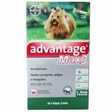 Advantage max 3 antipulgas e carrapatos 0,4ml para cães ate 4kg - Bayer