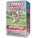 Advantage max3 com 1 ml para cães de 4 a 10 kg  3 bisnagas - Bayer