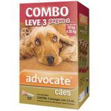 Advocate Caes Combo 2,5 Ml - Leve 3 Paga 2 - Bayer