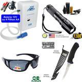 Aerador Marine Sports+ Faca Fileteira+ Lanterna X900+ Oculo
