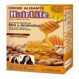 Alisante capilar hair life 160g mel e amêndoa - Sem marca