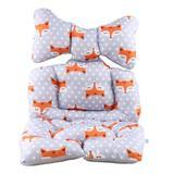 Almofada colchonete capa para carrinho bebê conforto cadeirinha kakiblin raposa