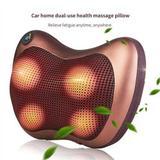 Almofada Massagem Corporal Pescoço Ombro Travesseiro, Massageador Shiatsu Casa e Carro 220 v - Mc