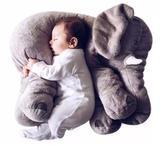 Almofada Travesseiro Elefante de Pelúcia para Bebê Dormir Cinza 60cm - Claudia Casa enxovais