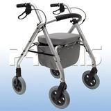Andador Com 4 Rodas Aluminio Comfort Praxis
