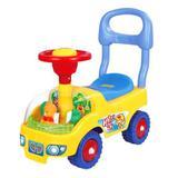 Andador de Bebê Carrinho Ursinho Motoca Volante E Buzina Amarelo - Dm