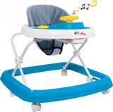 Andador Musical Regulável 6 Rodízios StyllBaby Azul