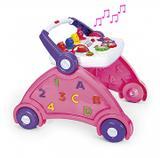 Andador poliplac rosa com som de animais