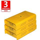 Anti Mofo Eletrônico Repel Mofo Amarelo Contra Bolor Mofo Ácaro 3 unidades 220V - Capte