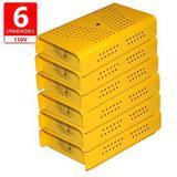 Anti Mofo Eletrônico Repel Mofo Amarelo Contra Bolor Mofo Ácaro 6 undades 110v - Capte