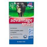 Anti Pulgas Advantage Max 3 Bayer mais de 25 Kg  3 pipetas