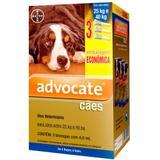 Anti pulgas Advocate Cães de 25 a 40 kg com 3 pipetas Bayer