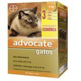 Anti pulgas Advocate Gatos Até 4kg com 3 pipetas Bayer - Zoetis