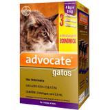 Anti pulgas Advocate Gatos de 4 a 8 kg com 3 pipetas Bayer