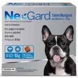 Anti Pulgas e Anti Carrapatos Nexgard Cães 4,1 a 10kg (28,3mg) - Merial