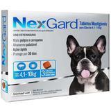 Anti pulgas e carrapatos nexgard m para cãoes entre 4 a 10 kg validade 10/20 - Merial