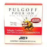 Anti Pulgas e Carrapatos Pulgoff Pour On 0,5ml ate 7kg - Mundo animal
