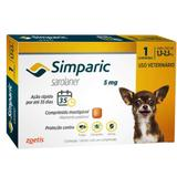 Anti Pulgas Simparic 5 Mg 1,3 A 2,5 Kg Com 3 comprimidos - Zoetis