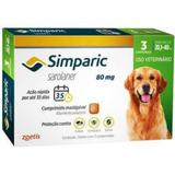 Anti Pulgas Simparic 80 Mg  20,1 A 40 Kg Com 3 comprimidos - Zoetis