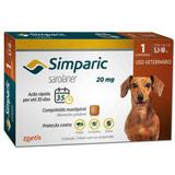 Anti Pulgas Zoetis Simparic 20 Mg para Cães 5,1 a 10kg