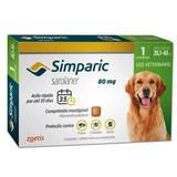 Anti Pulgas Zoetis Simparic 80 Mg Para Cães 20 A 40 Kg 1CP