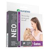 Antipulgas Carrapatos Neopet Ourofino Para Gatos De 1 A 8kg