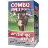 Antipulgas e Carrapatos Bayer Advantage MAX3 Combo Para Cães Acima de 25 Kg