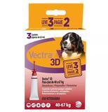 Antipulgas e Carrapatos Ceva Vectra 3D para Cães de 40 a 67 Kg 8 mL 3 Pipetas