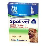 Antipulgas E Carrapatos  Coveli Spot Vet 3 Para Cães Até 15kg 3ml 1 Bisnaga