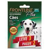 Antipulgas E Carrapatos Frontline Plus Para Cães De 20 A 40 Kg - Leve 3 Pague 2 - Merial