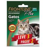 Antipulgas E Carrapatos Frontline Plus Para Gatos - Leve 3 Pague 2 - Merial