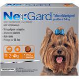 Antipulgas e Carrapatos NexGard 11,3 mg para Cães de 2 a 4 Kg com 1 Tablete - Merial