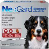 Antipulgas e Carrapatos NexGard 136 mg para Cães de 25,1 a 50 Kg com 1 Tablete - Merial