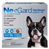 Antipulgas e Carrapatos NexGard 28,3 mg para Cães de 4,1 a 10 Kg com 1 Tablete - Merial