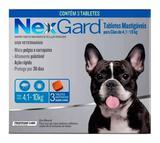 Antipulgas e Carrapatos Nexgard 4 a 10kg COM 3 COMPRIMIDOS - Merial