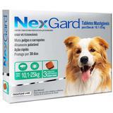 Antipulgas E Carrapatos Nexgard 68 Mg Para Cães De 10,1 À 25 Kg Com 03 Tabletes