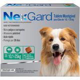 Antipulgas e Carrapatos  NexGard 68 mg para Cães de 10,1 a 25 Kg com 1 Tablete - Merial