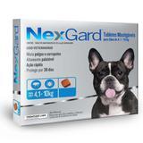 Antipulgas e Carrapatos Nexgard M 4 a 10 kg-3 comprimidos - Merial