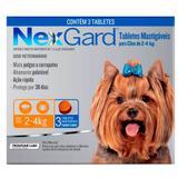 Antipulgas E Carrapatos Nexgard Para Cães De 2 a 4Kg Com 3 Tabletes - Merial-nexgard