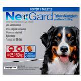 Antipulgas e Carrapatos NexGard para Cães de 25,1 a 50 Kg com 3 Comprimidos