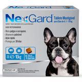 Antipulgas e Carrapatos NexGard para Cães de 4,1 a 10 Kg com 1 Comprimido