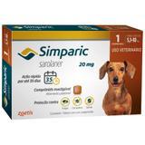 Antipulgas E Carrapatos Zoetis Simparic 20mg Para Cães 5,1 A 10kg Com 1 Comprimidos