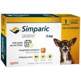 Antipulgas e Carrapatos Zoetis Simparic 5mg Para Cães 1,3 a 2,5kg Com 1 Comprimido